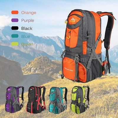 50L Outdoor Camping Hiking Bag Backpack Waterproof Nylon Rucksack Travel Daypack