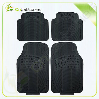 4pc Black Deep Dish All Weather Heavy Duty Rubber SUV VAN Car Floor Mats for BMW