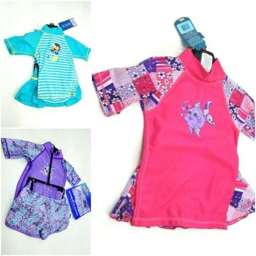UV Skinz Girls Swim Set UPF 50+ Sun Protection Pic Sz 12/18Mo-7 & Col #1185029
