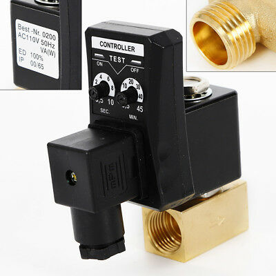 New Ac 110v 12 Electronic Timed Air Compressor Tank Automatic Drain Valve Usa