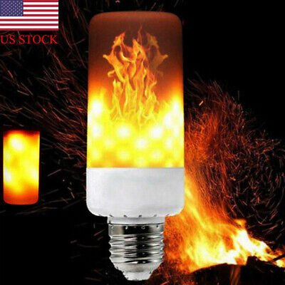 LED Flicker Flame Light Bulb E27 Simulated Burn Fire Effect Festival Party Decor