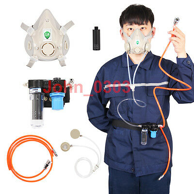 Supplied Air Fed Respirator System 6200 Painting Spraying Gas Mask Respirator