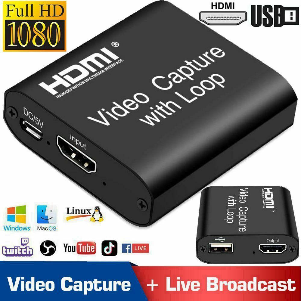 HDMI Video Digtal Capture Card Recorder USB2.0 1080P Game Ca