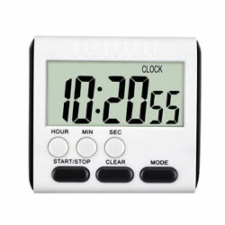 LCD Digital Large Kitchen Cooking Timer Count-Down Up Clock Loud Alarm Magnetic