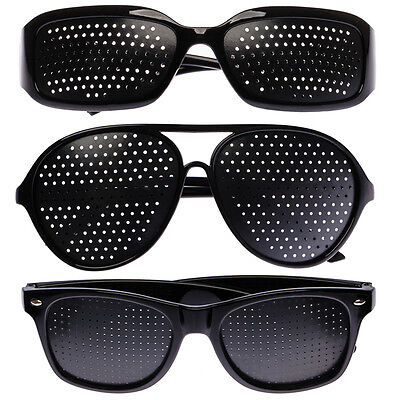 3 Rasterbrille Gitterbrille Augentraining Sehkorrektur Pinhole Lochbrille Brille
