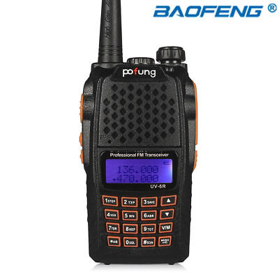 Baofeng UV-6R Handheld Radio Scanner Portable HAM Two Way Digital Transceiver US