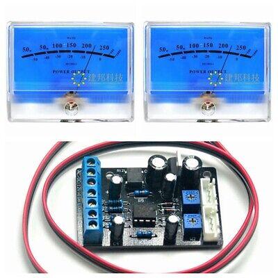 2pcs Blue Lake Vu Meter Db Level Header W 1pc Power Supply Driver Board Ta7318p