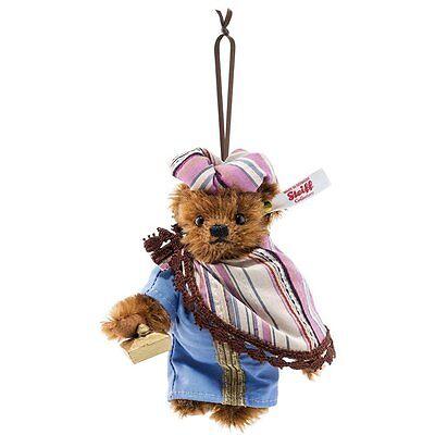 Steiff BALTHASAR WISEMAN TEDDY BEAR ORNAMENT EAN 034077 Mohair 10CM - NEW NRFB