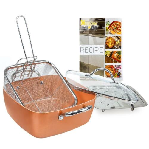 5 pcs cookware set deep square casserole