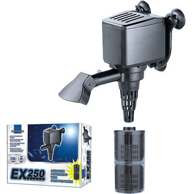 EX 250 DX Aquarium Powerhead Filter Submersible GPH 900 Liters Water Pump Reef
