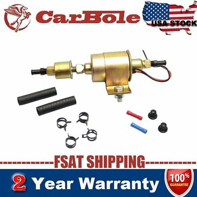E8012S ELECTRIC FUEL PUMP UNIVERSAL IN LINE 5psi-9psi 30gph 12V Low Pressure