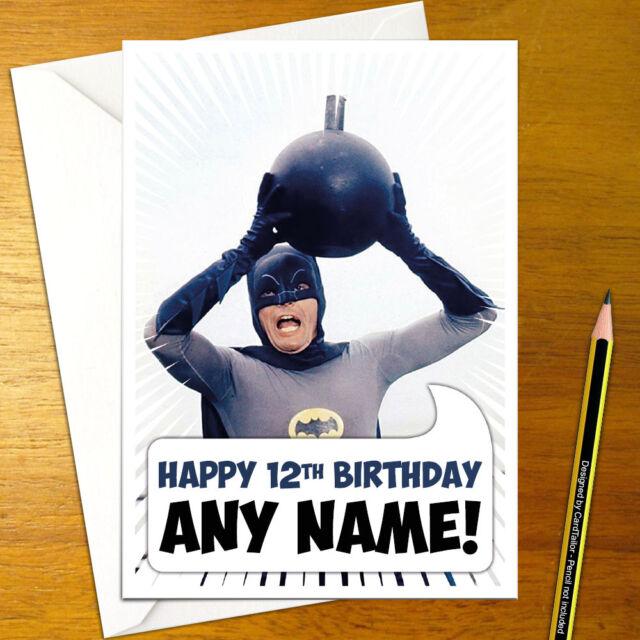 Batman Personalised Birthday Card Large A5 Bomb Joker Robin Knight