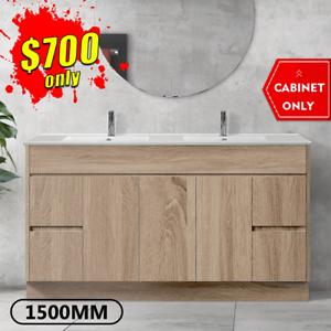 Bathroom Vanity 1500mm Freestanding Timber Look Oak Cabinet LOGAN *NEW
