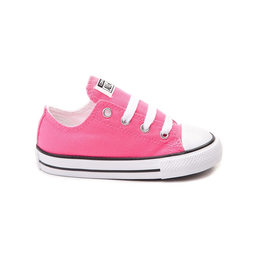 Converse All Star Low Chucks Infant Toddler Pink Canvas Shoe 7J238 Free Shipping 1