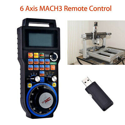 Cnc Mach3 6 Axis Wireless Handheld Electronic Handwheel Controller Mpg Pendant