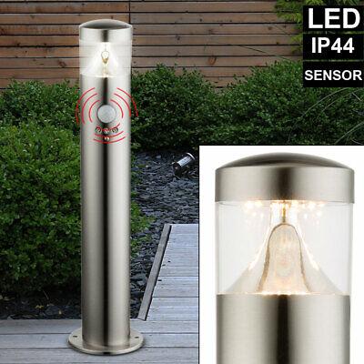 LED Exterior Lámpara de Pie Jardín Zócalo Soporte Puerta Casa Sensor Movimiento