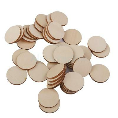 Wooden Craft Circles Round Disc Unfinished Wood Cutouts Ornament Project - Unfinished Wood Plaques