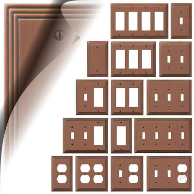 Antique Copper Switch Plate Toggle Outlet Steps Wallplate Cover Rocker Duplex Antique Copper Wall Plate