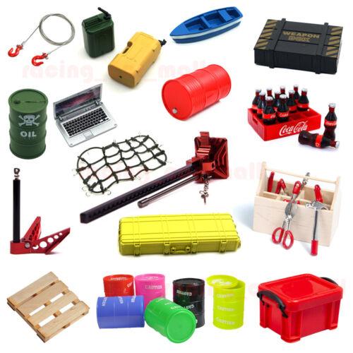 Car Parts - 1/10 RC Car Parts Tow Shackle Hook Tool Box Oil Tank Net Decorative Accessories
