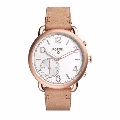Fossil Q Tailor Gen 2 Women's Light Brown Leather Hybrid Smartwatch FTW1129