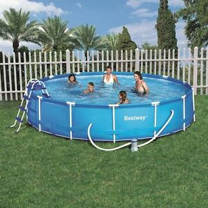 Framed paddling pool ebay for Inflatable garden swimming pool
