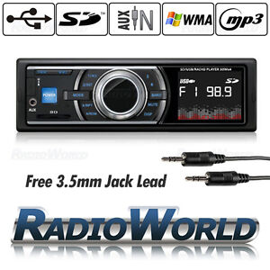 Car Stereo Headunit Radio Player MP3 / USB /SD/ AUX / FM / iPod / iPhone Non CD