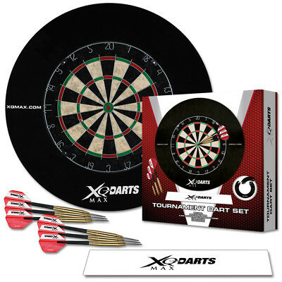 Dart Turnier Set Dartscheibe Dartpfeile Abwurflinie Surround Dartboard Steeldart ()
