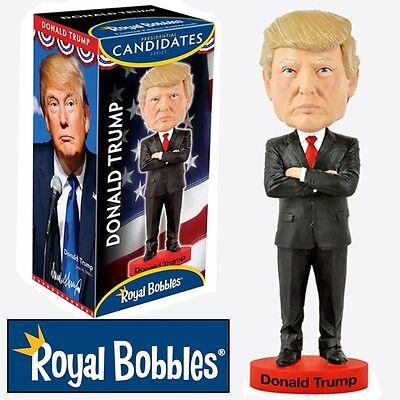 Mr Donald J. Trump Presidential Ceramic Bobble Head Royal Bobbles