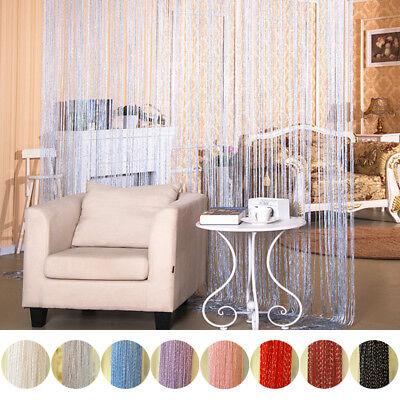String Door Curtain Beads Room Divider Tassel Crystal Fringe Window Panel - Beads Door