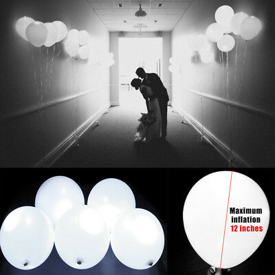 LED Light UP Balloons Party Balloon White Wedding Party Decor Luminous Balloons - Led Balloon Lights Wholesale