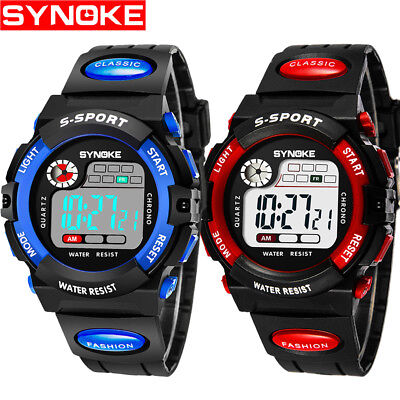 Alarm Watch Stopwatch (Kid Watch Waterproof Sport LED Alarm Stopwatch Digital Wristwatch for Boy)