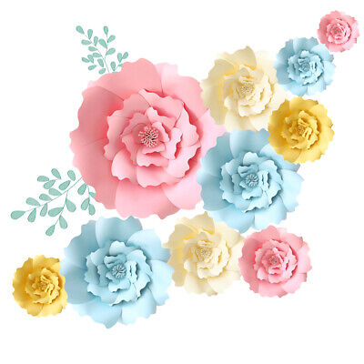 Wedding Wall Decor (20/30/40cm Paper Flowers Backdrop for Wall Decoration Large Rose Flower)