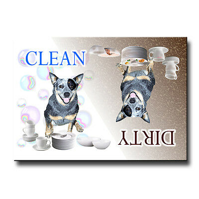 AUSTRALIAN CATTLE DOG Clean Dirty DISHWASHER MAGNET New