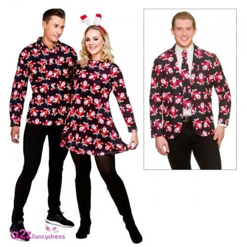 8632ea790ac08 Santa Christmas Day Adult Couples Womens Dress Mens Shirt Suit Jacket & Tie
