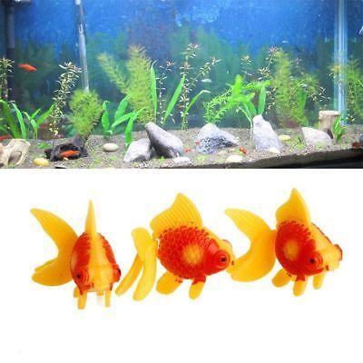 3Pcs Decoration Aquatic Pets Home Garden Fake Fish Gold Fish Aquarium Tanks