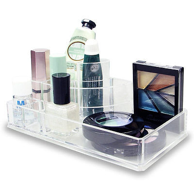 3-Step Clear Acrylic 8 Compartment Compact lipstick Cosmetic Makeup Organizer Health & Beauty