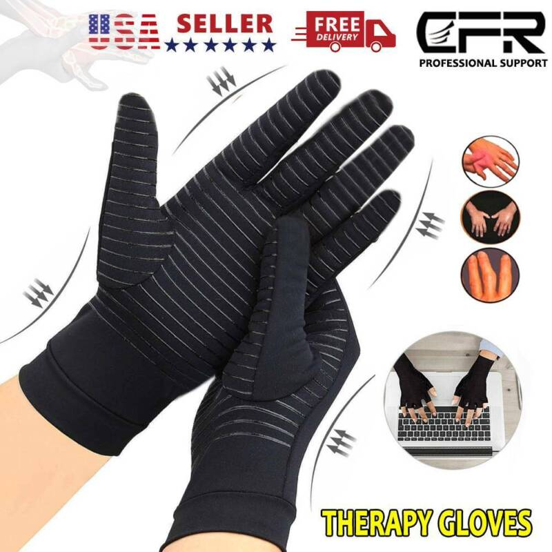 copper compression arthritis gloves finger fit carpal