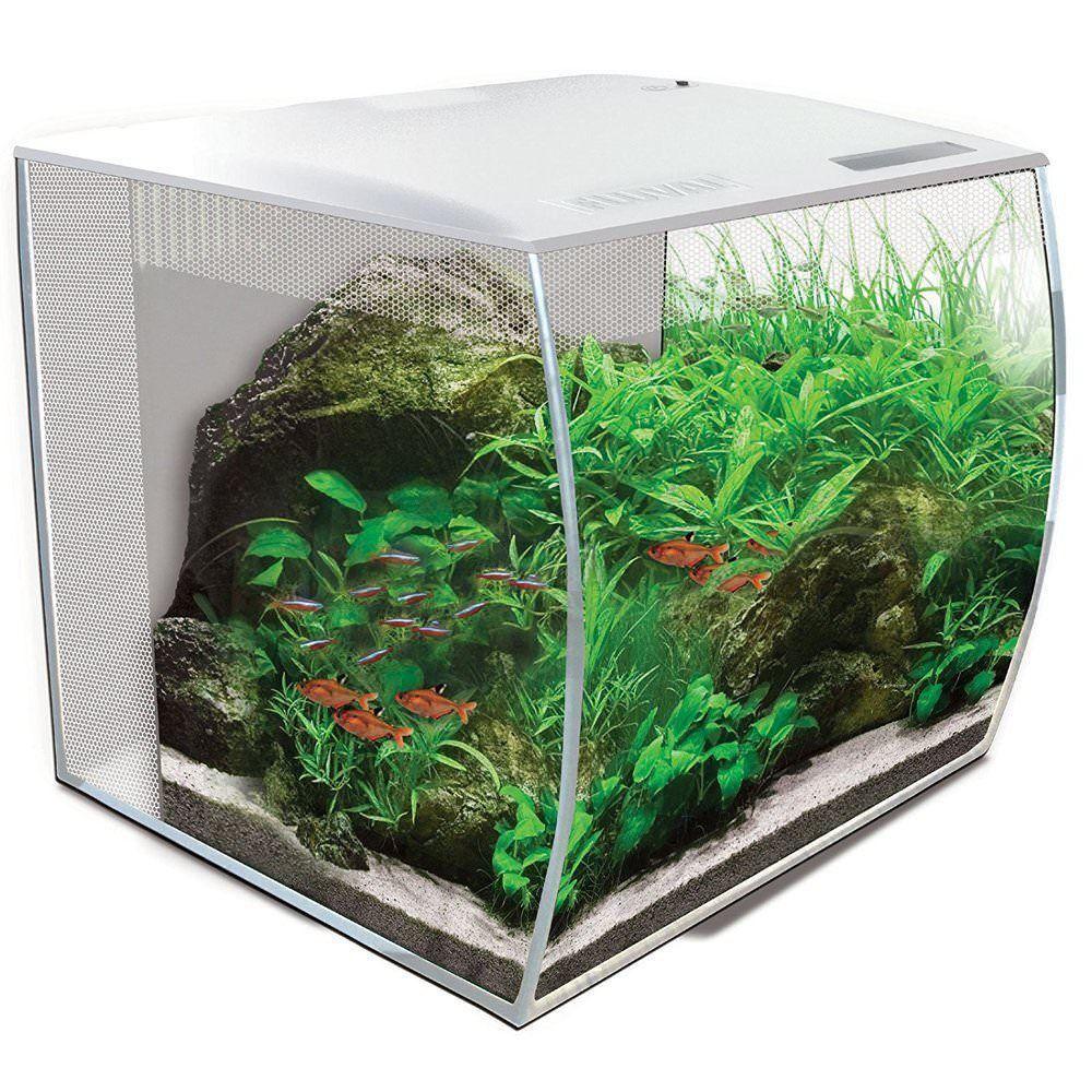 Fluval FLEX Nano-Aquarium-Set 57l  in weiß mit RGB LED und Fernbedienung