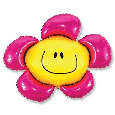 Smiley Face Foil Balloon - Large Flower Shaped 34