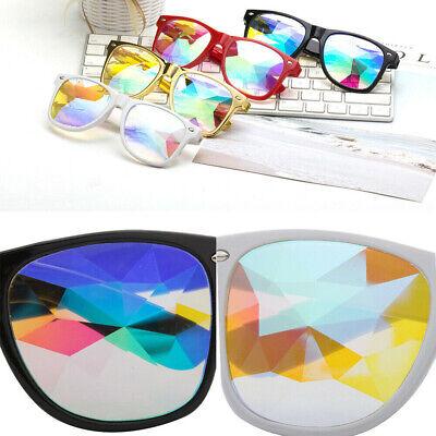 US Square Unique Kaleidoscope Prism Rave Glasses Rainbow Kaleidoscopics Cool (Kaleidoscope Prism Glasses)