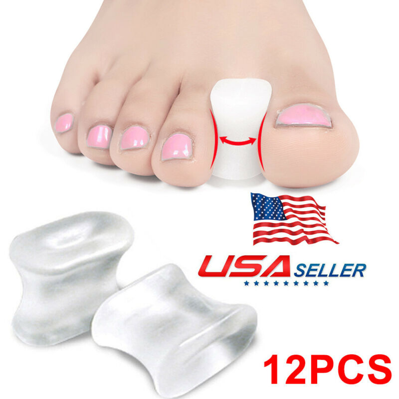 Popular Gel Toe Spacers Toe Separators for Bunion Overlapping Toes 12 PCS New