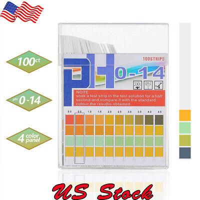 100pcs Ph Indicator Test Strips 0-14 Test Paper Water Litmus Tester Urine Saliva