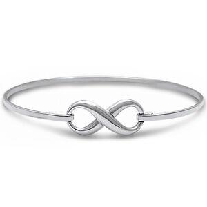 BEST SELLER LOVE INFINITY KNOT  .925 Sterling Silver Bracelet 7.5