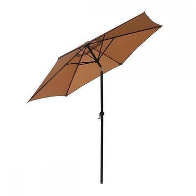 New Patio Umbrella 9' Aluminum Outdoor Patio Market Umbrella Tilt W/ Crank 276