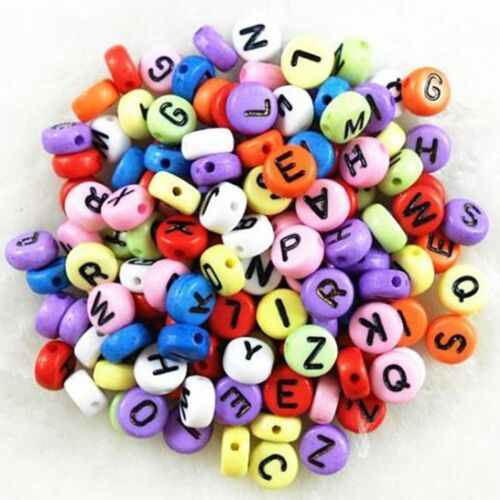 Accessories Alphabet Letter Spacer Beads Flat Round Jewelry Making Findings