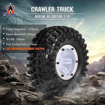 "3022SR 1/10 RC Off Road D90 2.2"" Air Inflatable Pneumatic Tire W/Alloy Bead E3O8"
