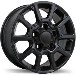 "18"" Replika Wheel Set 2007-2019 Tundra 18x8 5x150 +60mm Mag Roue Mags Noir Gloss Black Rims Wheels 18"