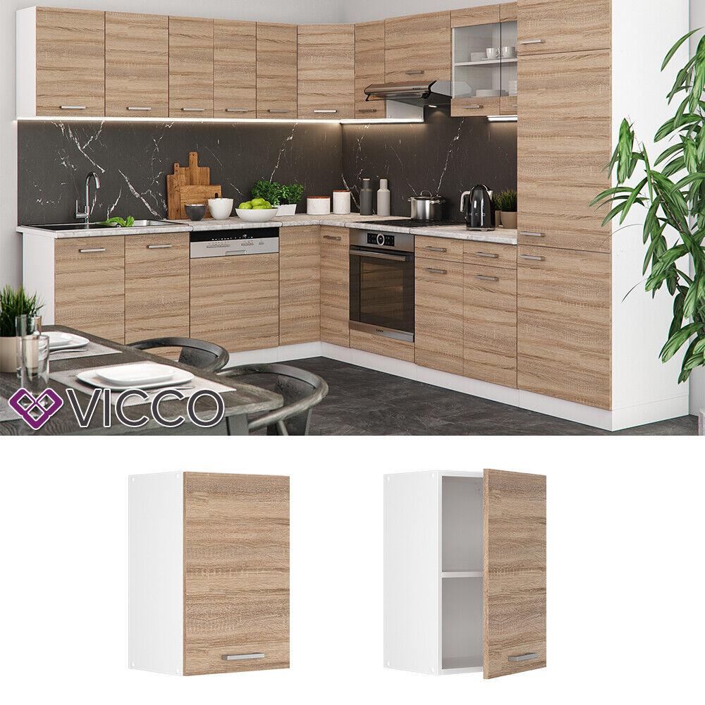 VICCO Küchenschrank Hängeschrank Unterschrank Küchenzeile R-Line Hängeschrank 40 cm sonoma