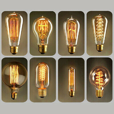 Vintage Filament LED Edison Bulb E27 Decorative Industrial Light A+ ST64 T45 G95