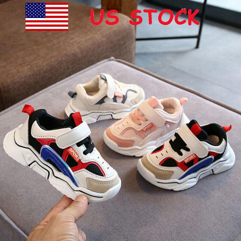 Toddler Infant Kids Baby Boys Girls Breathable Sport Running